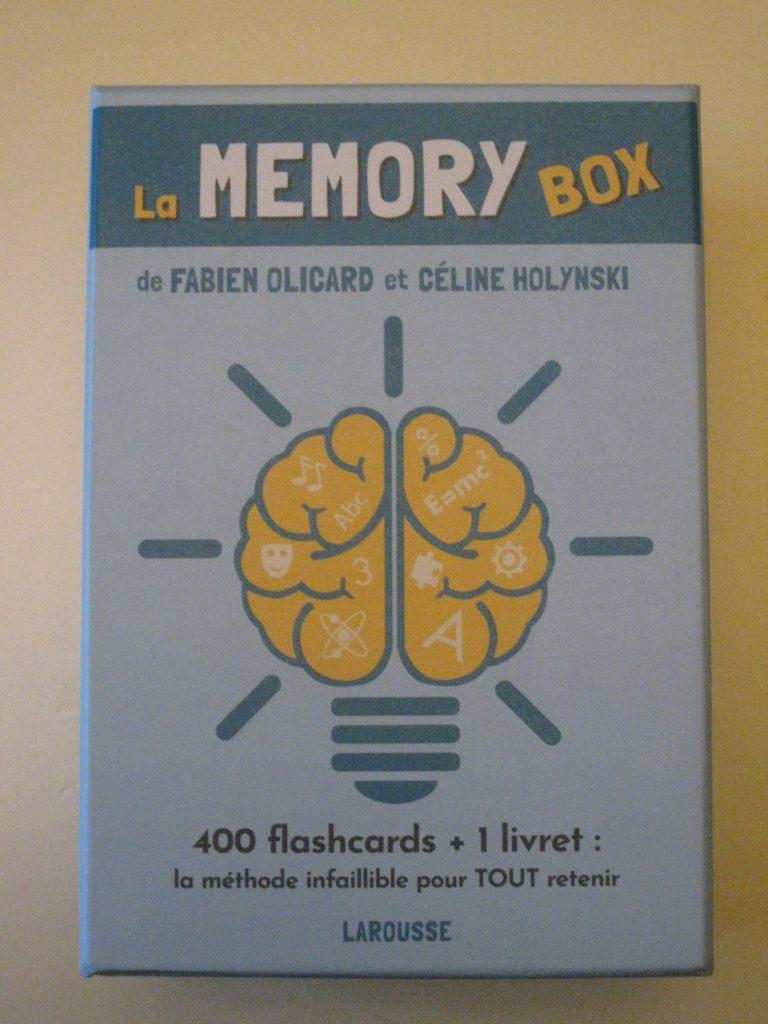 Boite de flashcards La memory box (la méthode infaillible pour tout mémoriser.
